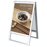 化粧ビス式ポスター用スタンド看板 B2 両面 ホワイト (PSSK-B2RW)