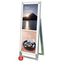 A3ポスター用小型スタンド看板プチ 規格:A3縦×2枚(A1ハーフ) 片面 ホワイト (PSSK-A3TTKW)
