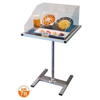 アクリルカバー付テーブルスタンド テーブル寸法(外寸):W489×D489 ブラック (TSA-7GB)