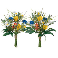 ご仏壇お供花 仏花ポピー2個セット (造花) 高さ36cm 光触媒 (108A40)