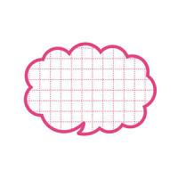 カード 16-4070 抜型カード吹出し小 ピンク
