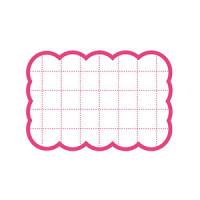 カード 16-4080 抜型カード四角 小 ピンク