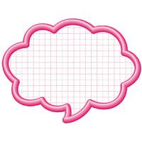 16-4192 抜型カード吹出し特大 ピンク