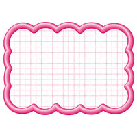 16-4196 抜型カード四角特大 ピンク