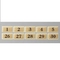 テーブルナンバー 和風タイプ BJ25 チークー No.1