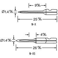 バノック  303 X用 替針  N-X(細) 薄物用