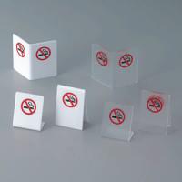 L型禁煙サイン SI-41 クリアマット