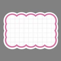 抜型カード 16-4490 ピンク