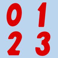 アドインレタ 23-80 数字「0] H23・30片×10シート