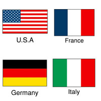 国旗シール 10セット U.S.A (22-2500*)