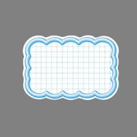 16-4117 抜型カード  波四角¥なし ブルー