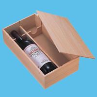 組立式ワイン2本入桐箱枕型
