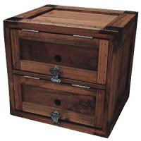 木製シューズボックス ライトオーク(茶)