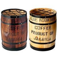 木樽型かさ立 文字有 茶