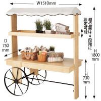 木製ワゴン 花車タイプ クリア