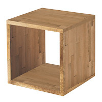 木製サイコロボックス ライトオーク 25cm角