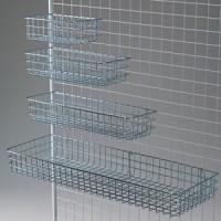 ネット用網カゴ クローム 270×200×100