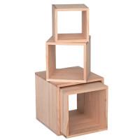 木製サイコロボックス 白木(無塗装) 25cm角