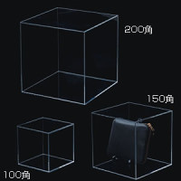 アクリルBOX 5面体(クリア)t=3mm 200角