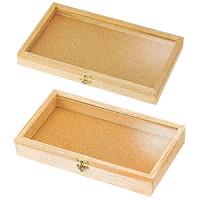 木製アクセサリーケース 白木 小 浅型