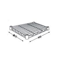 ホームエレクター ワイヤーシェルフ W450×D450 クローム