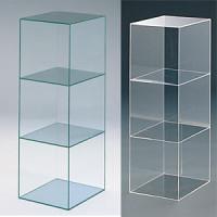 アクリル3連ボックス ガラス色