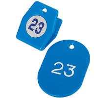 スチロールクロークチケットA型 (1~50) ブルー