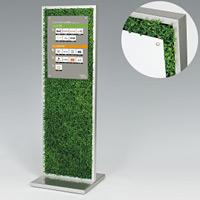 造花サインスタンド 全面グリーン(片面仕様) 面板サイズ:A3タテ(W297×H420) (56680-4*)