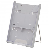 SCP卓上パンフレットスタンド A4 1列1段 カラー:ホワイト (58001WHT)