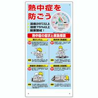 熱中症対策標識 温湿度計付 (309-10A)