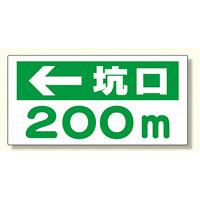 坑口距離表示板 ← 坑口 m (316-85)