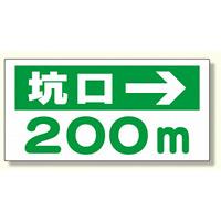 坑口距離表示板 坑口 m → (316-95)