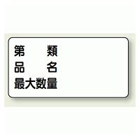 横型標識 第種 品名 最大数量 ボード 300×600 (830-72)