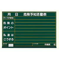 危険予知活動表黒板 (大) 木製 (320-01)