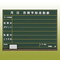 危険予知ボード (屋内用・マグネット不可) 木製 (消し具・受皿付) 450×600 (320-05)