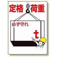 制限荷重標識 定格荷重 (328-02A)