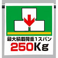 ワンタッチ取付標識 最大積載荷重 1スパン250Kg (341-44)