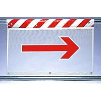 風抜けメッシュ標識 右矢印 (341-88)