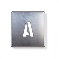 吹付け用アルファベットプレート 350×300 表示内容:A (349-12A)