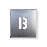 吹付け用アルファベットプレート 350×300 表示内容:B (349-13A)