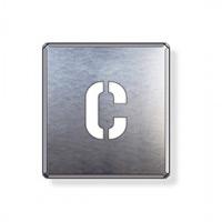 吹付け用アルファベットプレート 350×300 表示内容:C (349-14A)