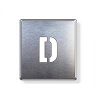 吹付け用アルファベットプレート 350×300 表示内容:D (349-15A)