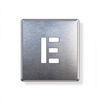 吹付け用アルファベットプレート 350×300 表示内容:E (349-16A)