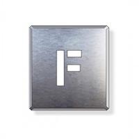 吹付け用アルファベットプレート 350×300 表示内容:F (349-17A)