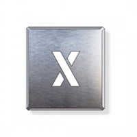 吹付け用アルファベットプレート 350×300 表示内容:X (349-38A)