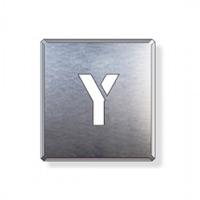 吹付け用アルファベットプレート 350×300 表示内容:Y (349-39A)