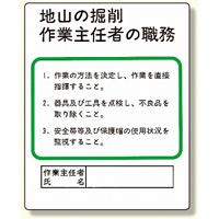 作業主任者職務板 地山の掘削.. (356-02)