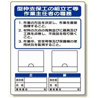 写真ケース付作業主任者標識 型枠支保工の (356-41A)