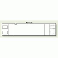 ファスナー付腕章 (差し込み式) ホワイト無地 (366-92A)