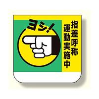 胸章 指差呼称運動実施中 10枚1組 (368-03)